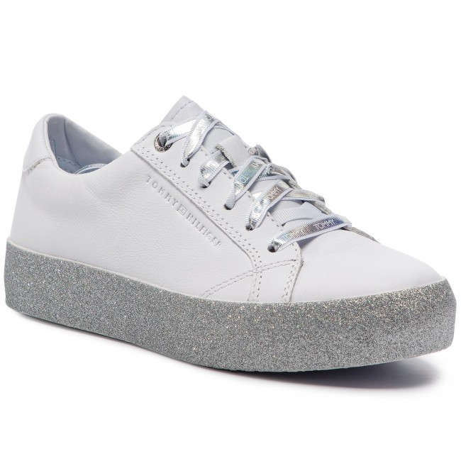 promo code b9ed2 32644 Sneakers TOMMY HILFIGER - Glitter Dress Sneaker FW0FW03962 Whithe 100