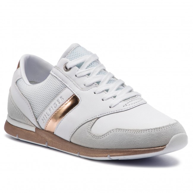 the best attitude 9b8c8 126cf Sneakers TOMMY HILFIGER - Iridescent Light Sneaker FW0FW04100  White/Rosegold 901