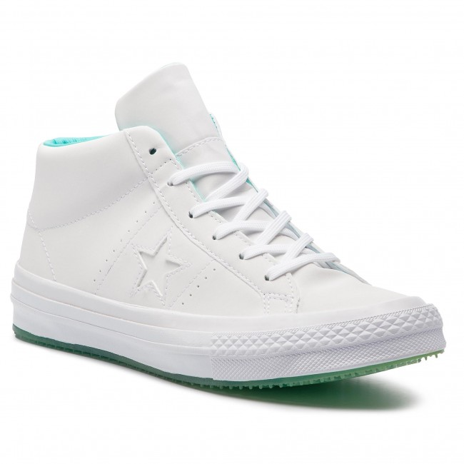 Turnschuhe CONVERSE One Star Counter Climate Mid 158837C WhiteWhiteLight Aqua