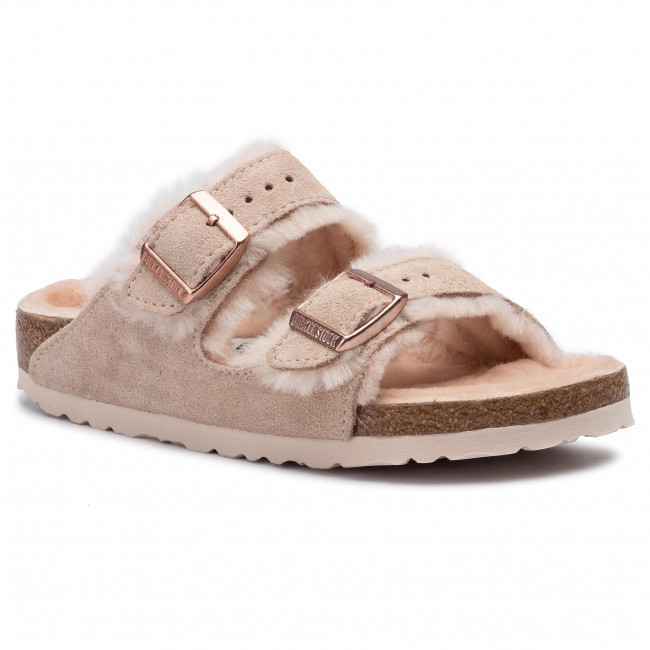 best service 207cd e3227 Hausschuhe BIRKENSTOCK - Arizona Fur 1014229 Nude