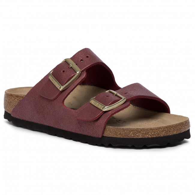 Pantoletten BIRKENSTOCK Arizona Bs 1014902 Washed Metallic Port