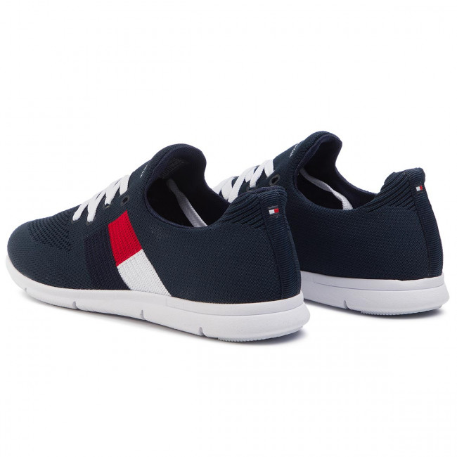 tommy hilfiger knitted flag light sneaker 36