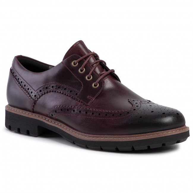 Halbschuhe CLARKS Batcombe Wing 261430487 Burgundy Leather