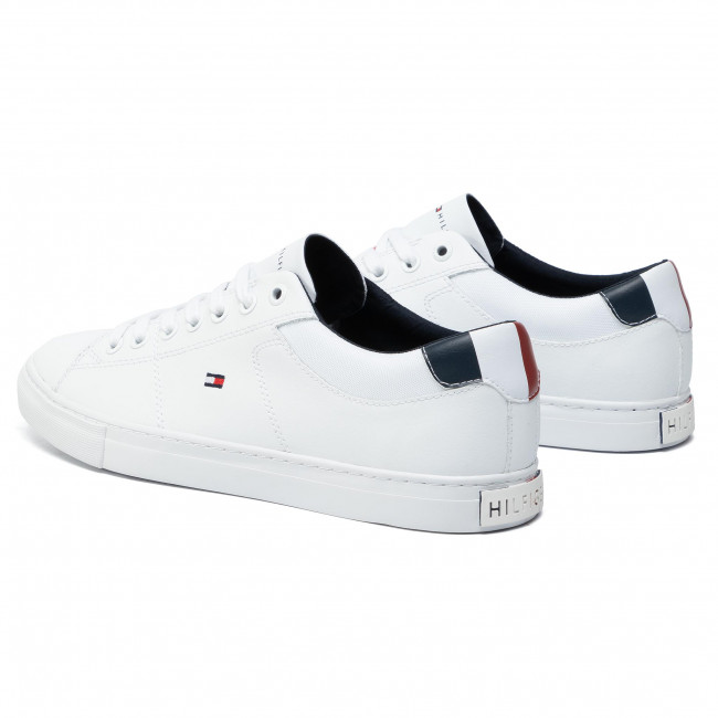 Tommy Hilfiger Herren Essential Leather Sneaker, Weiß (White