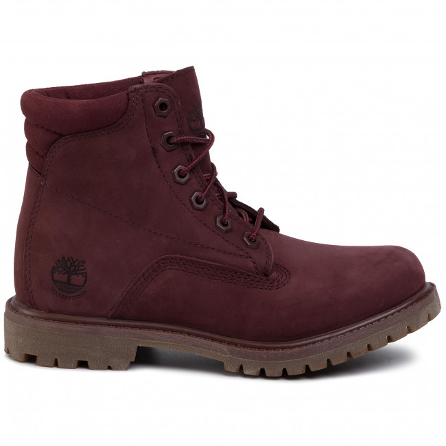 Trapperschuhe TIMBERLAND Waterville 6 In Waterproof Boot TB0A1R2TC601 Burgundy Nubuck