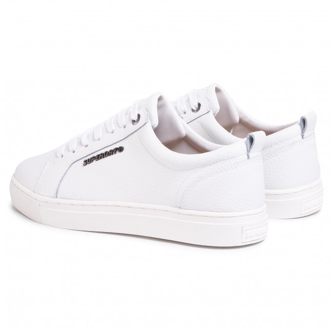 Sneakers SUPERDRY Truman Leather Lace Up MF110001A White 04C