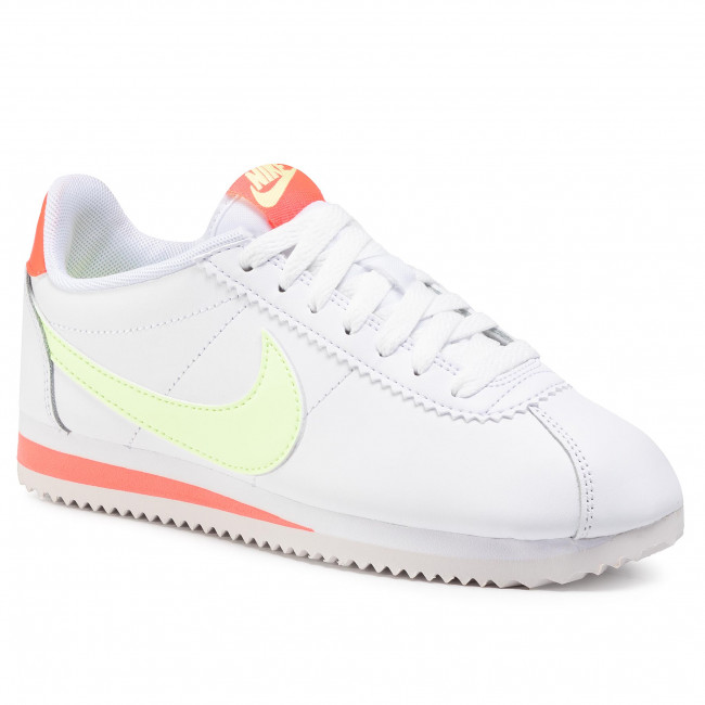 Schuhe NIKE Classic Cortez Leather 807471 116 WhiteBarely Volt