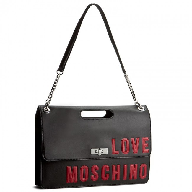 tasche love moschino jc4258pp02kh0000 nero klassisch handtaschen. Black Bedroom Furniture Sets. Home Design Ideas