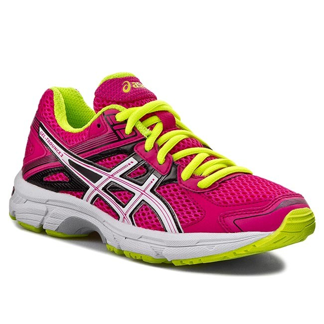 Halbschuhe ASICS Gel Trounce 2 T4D5N Hot PinkWhiteFlash Yellow 2001