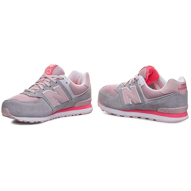 sneakers new balance kl574scg grau rosa sneakers halbschuhe damenschuhe. Black Bedroom Furniture Sets. Home Design Ideas