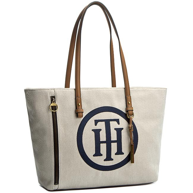 tasche tommy hilfiger island canvas th ew tote. Black Bedroom Furniture Sets. Home Design Ideas