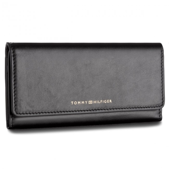 ee483865e47eb4 Große Damen Geldbörse TOMMY HILFIGER - Smooth Leather Ew Slim Flap Wallet  AW0AW05139 002