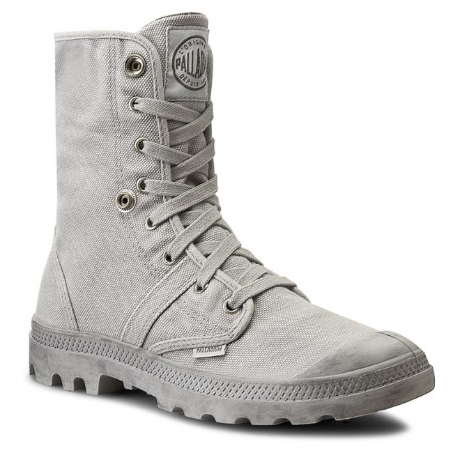 Stiefel Boots Palladium Boots Stiefel Pallabrouse Baggy Grau