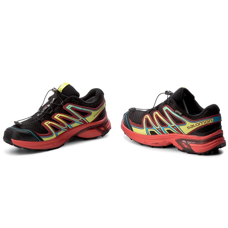 WINGS FLYTE 2 GTX TRAIL - Laufschuh Trail - black/fiery red/red dalhia