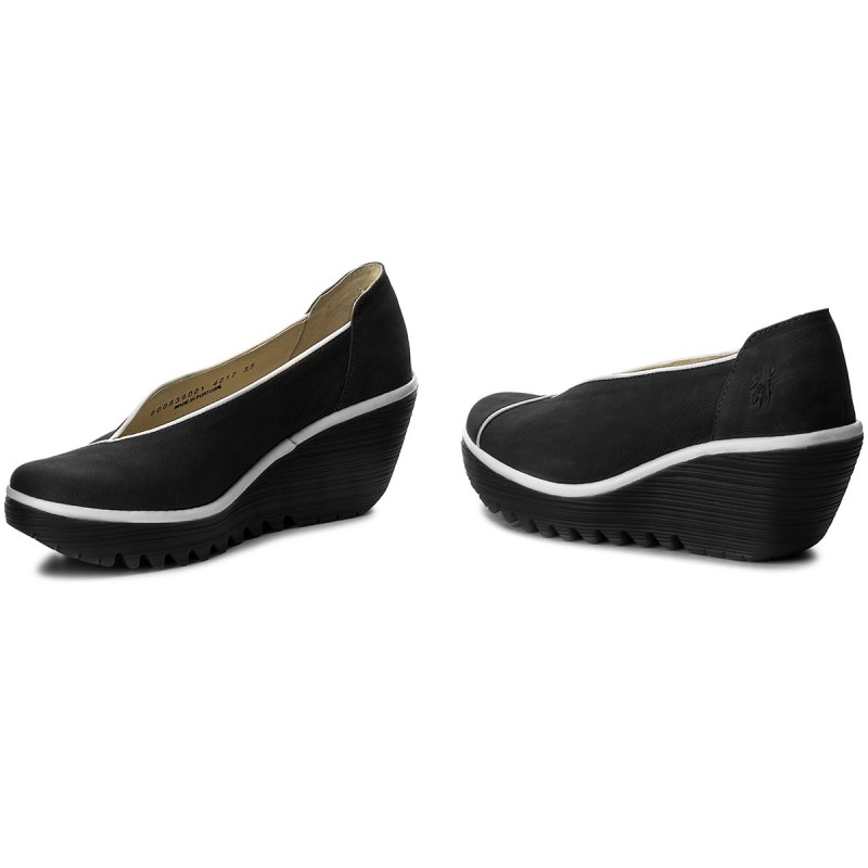 Halbschuhe FLY LONDON - Yucafly P500839000 Black/Offwhite