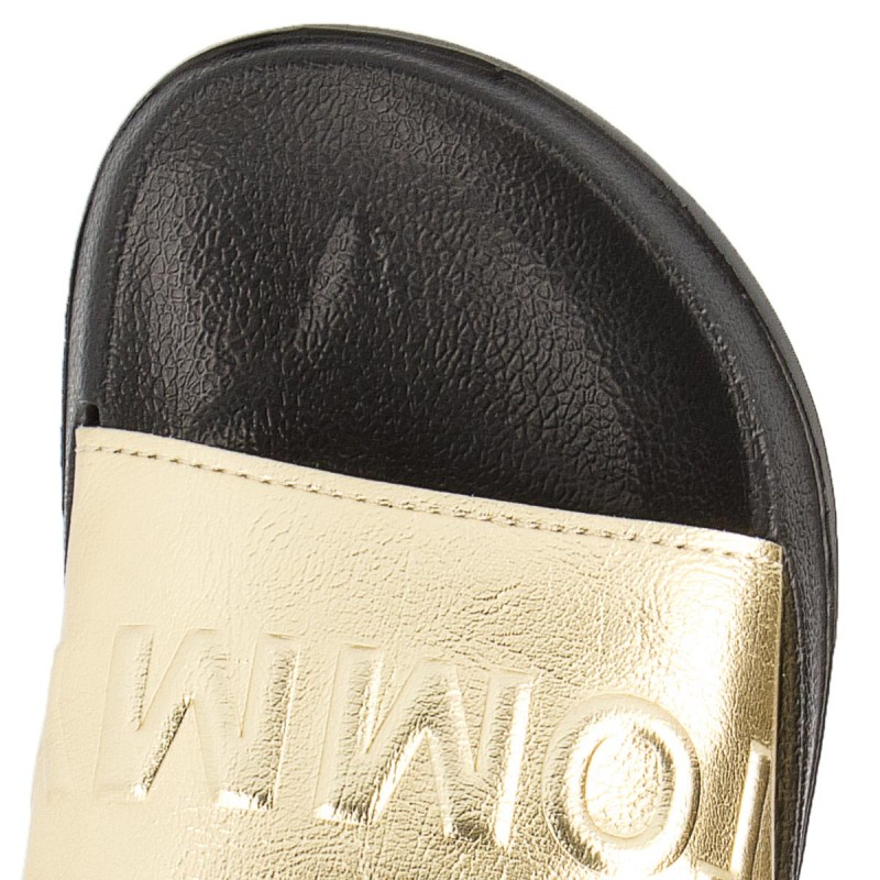 Pantoletten TOMMY JEANS - Tj Metallic Pool Slide EN0EN00227 Light Gold 708 DlcDvfp