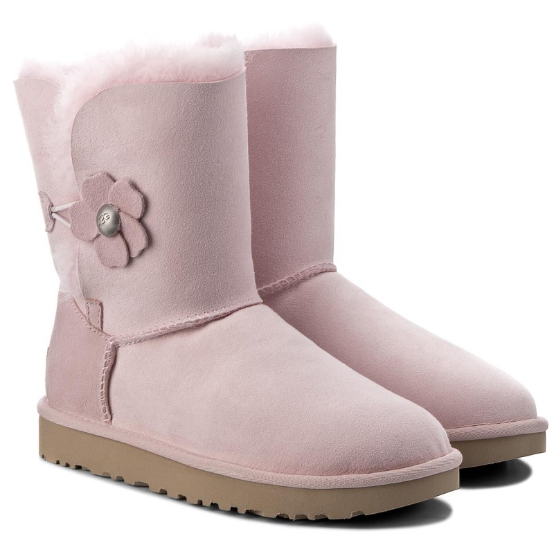 Schuhe UGG - W Bailey Button Poppy 1092294 W/Slpn wjpMP
