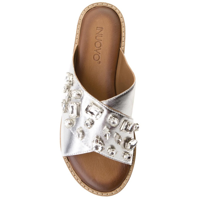 Pantoletten INUOVO - 8018 Silver A6gYbNt