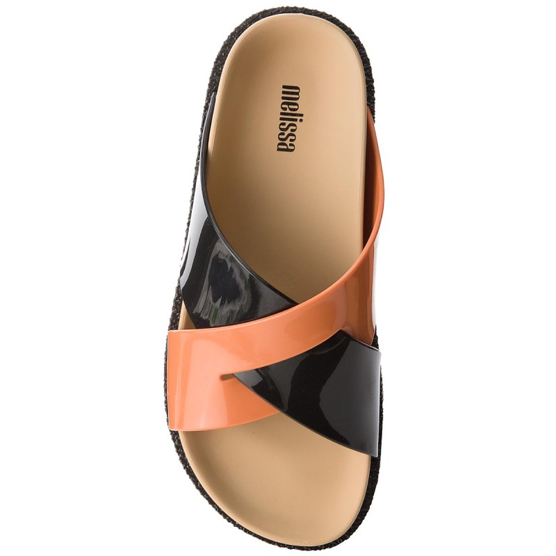 Pantoletten MELISSA - Energy Ad 32336 Black/Beige/Orange 52040