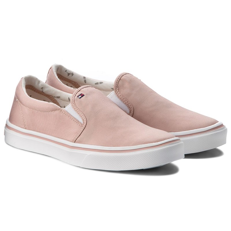 Turnschuhe TOMMY HILFIGER - Metallic Light Weight Slip On FW0FW03029 Dusty Rose 502 QWEcrFZ