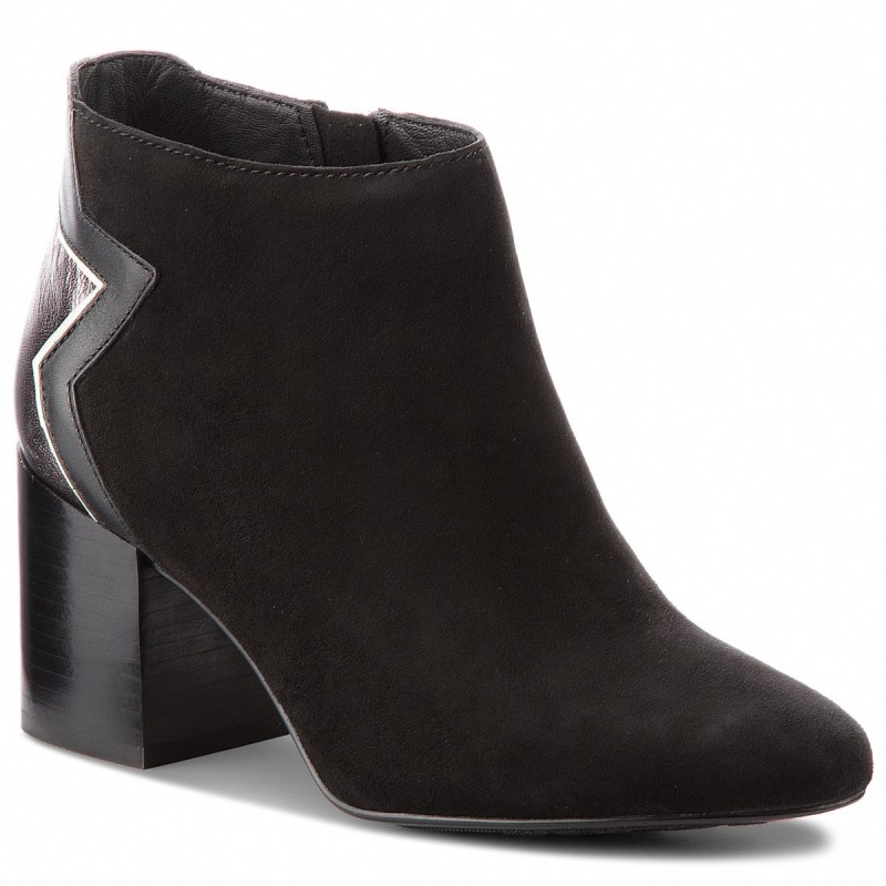 Stiefeletten TOMMY HILFIGER - Elevated Suede Heeled Bootie FW0FW02939 Black 990 N4mgn