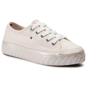 b4bc69e9d7 Turnschuhe TOMMY HILFIGER - Outsole Detail Flatform Sneaker FW0FW04134  Silver Peony 658