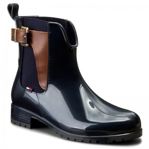 22e8eae52bd5 Gummistiefel TOMMY HILFIGER Oxley 2Z2 FW56822108 Midnight Winter Cognac 403