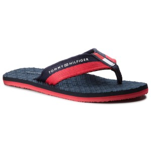 1738bdec4d47 Zehentrenner TOMMY HILFIGER - Embossed Flag Beach FM0FM01796 Midnight 403