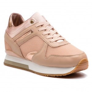 66241e00ca6 Sneakers TOMMY HILFIGER Glitter Textile Wedge Sneaker FW0FW03893 Mahogany  Rose 656