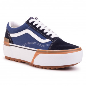 Turnschuhe VANS Old Skool Stacked NavyTrue White