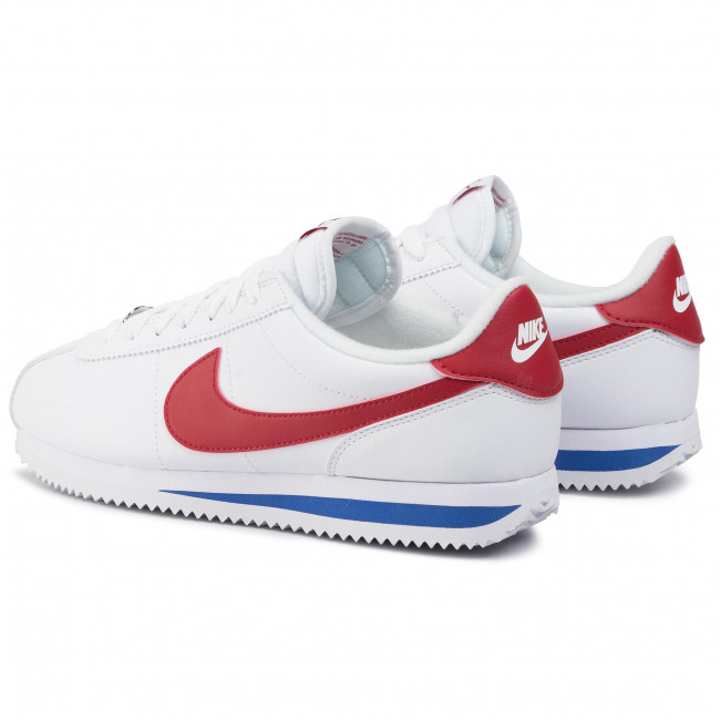 Schuhe Nike - Cortez Basic Leather 819719 103 White/varsity Red Sneakers Halbschuhe Herrenschuhe