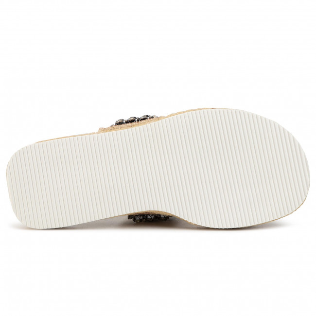 Espadrilles See By Chloé - Sb34175a Ribbon 120 Latte/strass Cry.lgold Pantoletten Und Sandaletten Damenschuhe
