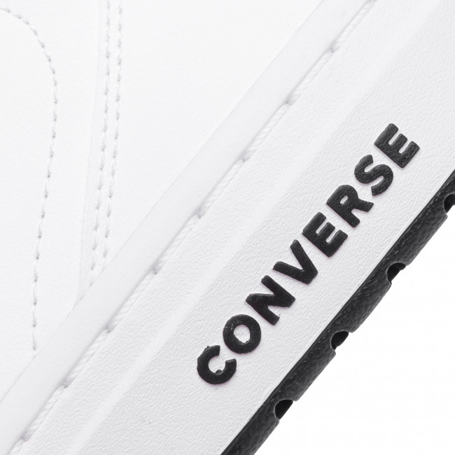 Sneakers Converse - Rival Mid 167081c White/university Red/black Halbschuhe Herrenschuhe